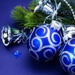 сине серебрянный декор