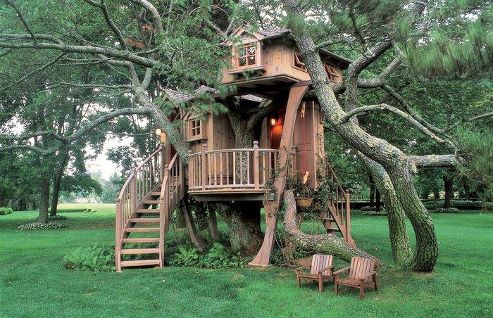 двухэтажный дом на дереве