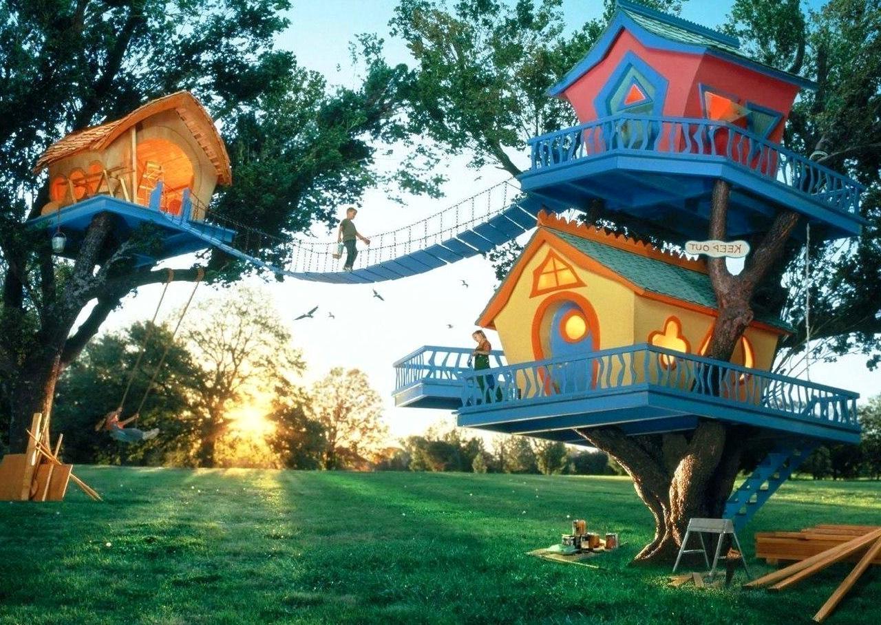 детский дом на дереве