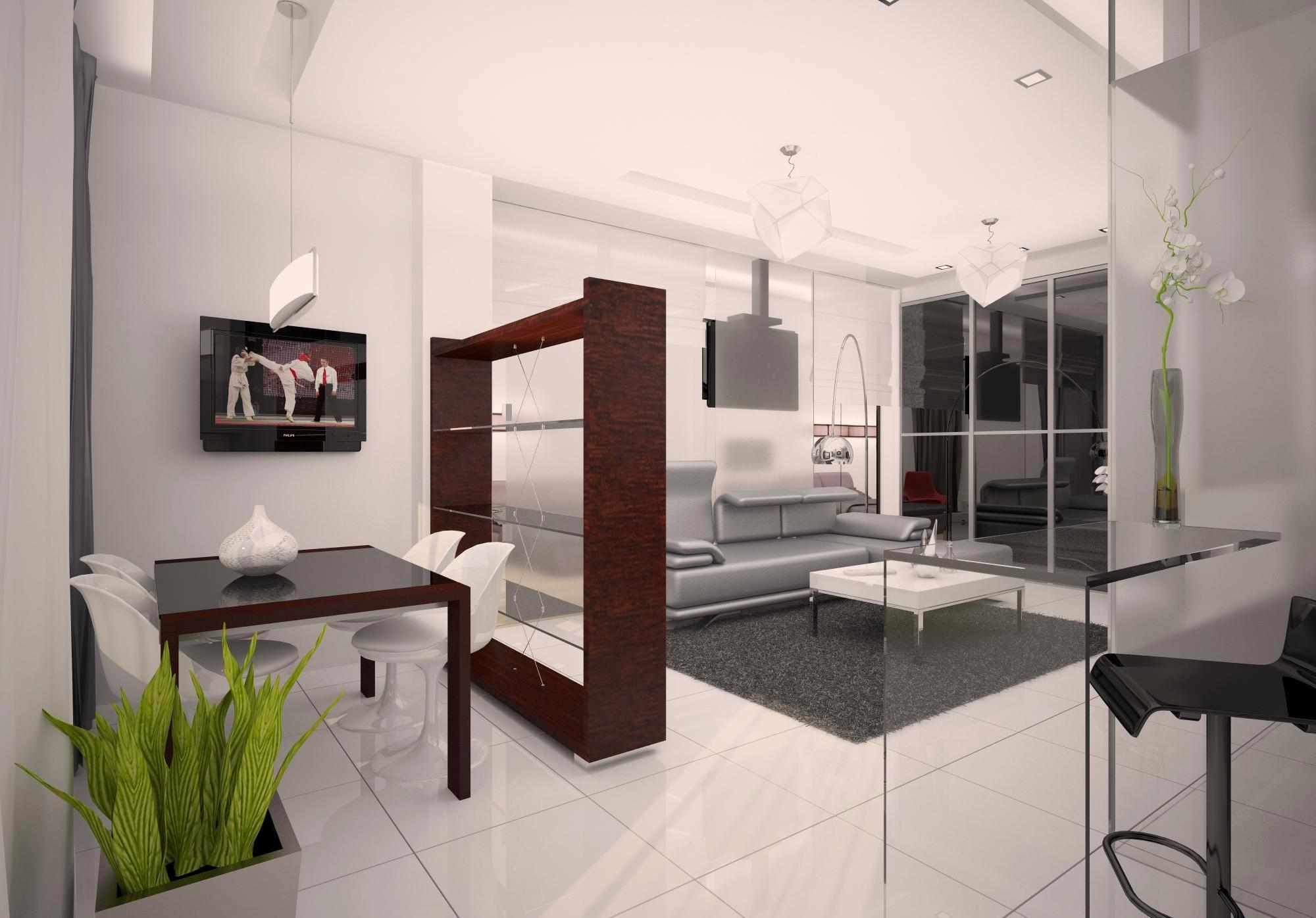 идея для дизайна квартиры студии