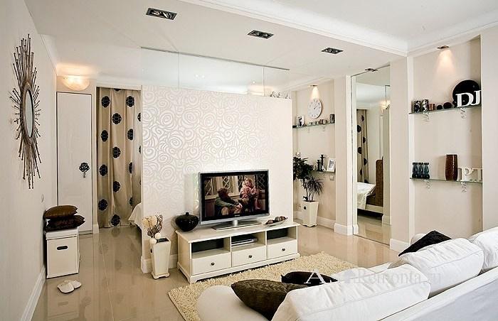 идея для интерьера квартиры студии