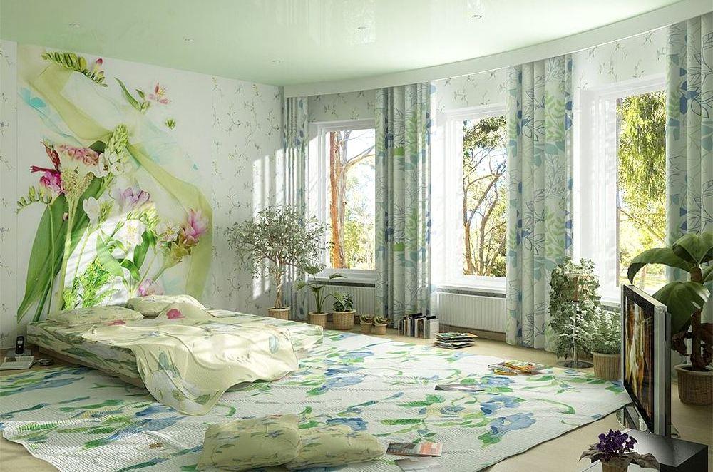 Дизайн спальни с фотообоями фото своими руками 35
