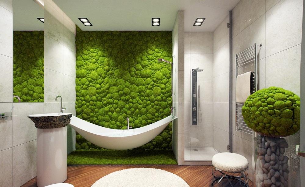 «Зеленая стена» в дизайне интерьера