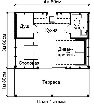схема домика