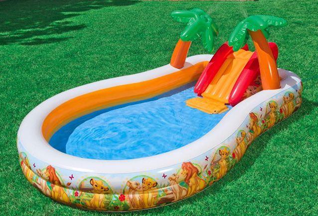 бассейн детский надувной с горкой