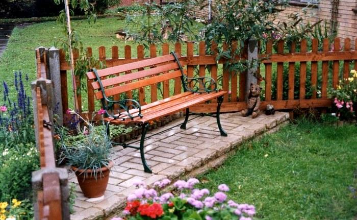 объекты ландшафтного дизайна скамейка