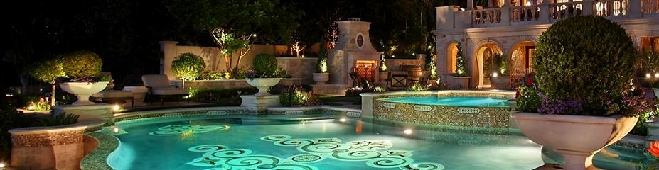 Ландшафтное освещение бассейн