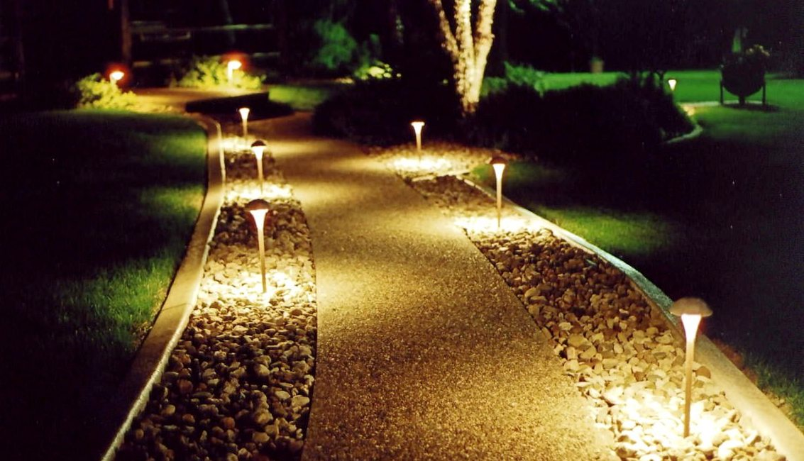 Ландшафтное освещение садовые дорожки
