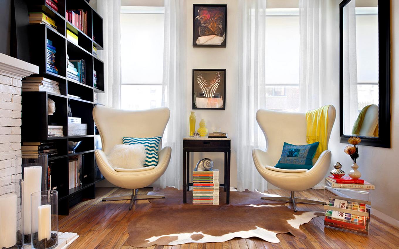 Скандинавский стиль в интерьере квартиры кресло-яйцо