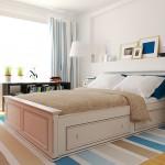 Скандинавский стиль в интерьере спальне