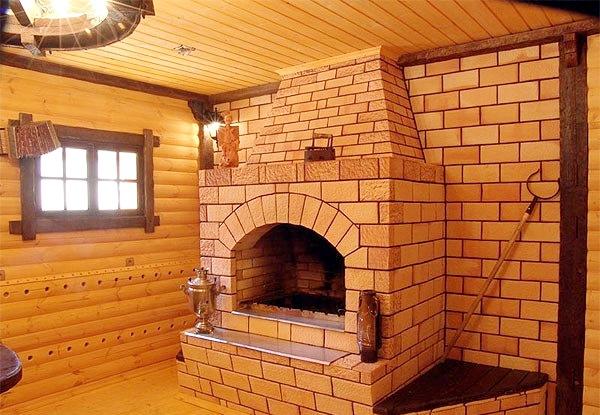 кирпичная печь для бани на даче