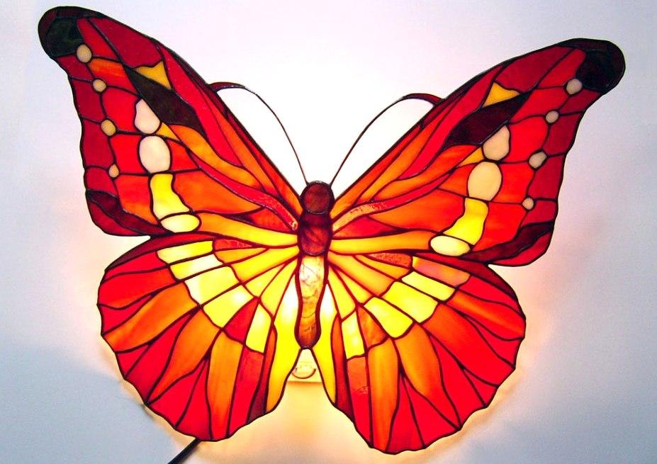 светильник бабочка Витражи тиффани
