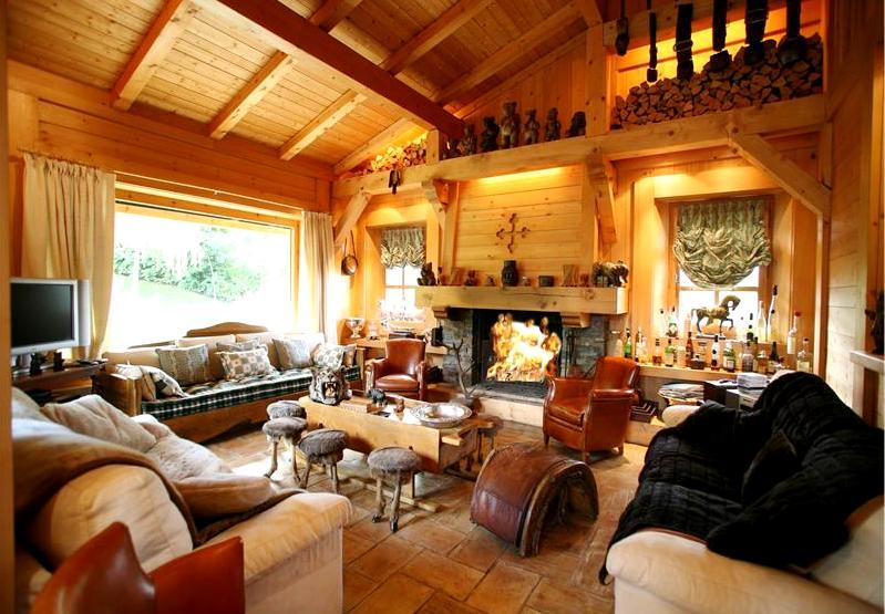 Домик охотника Дизайн интерьера дома из бруса