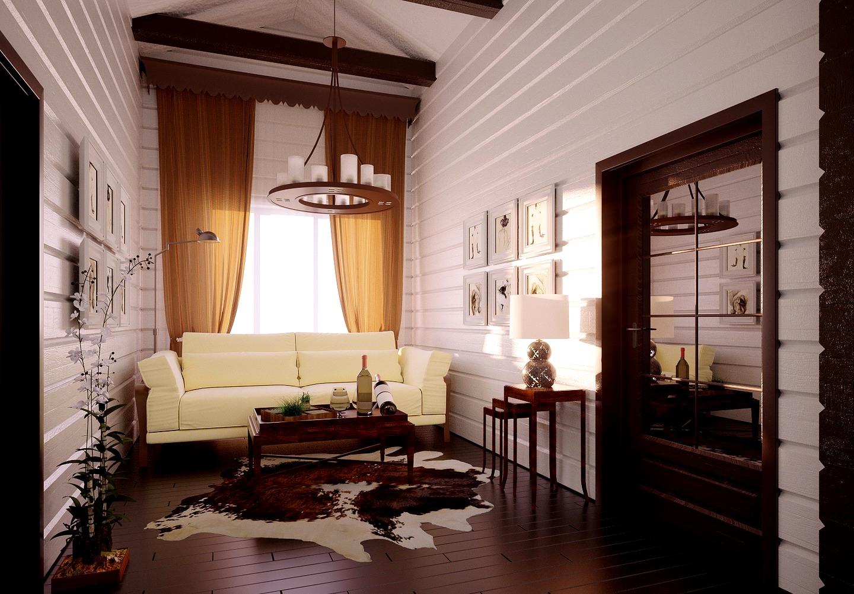 дизайн интерьера дома из бруса3