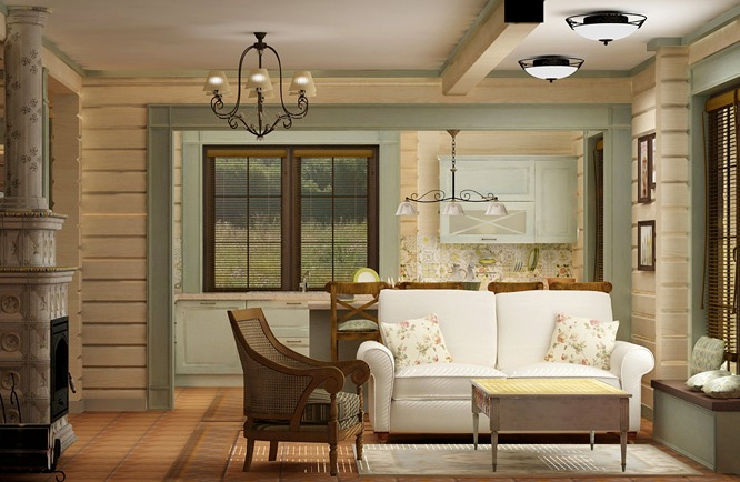дизайн интерьера дома из бруса4