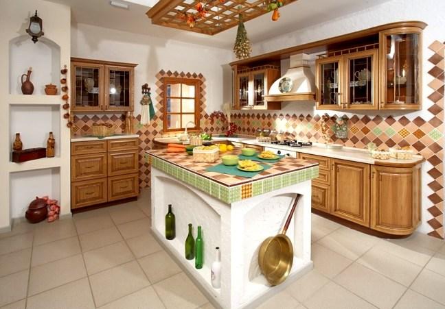 дизайн интерьера кухни островная