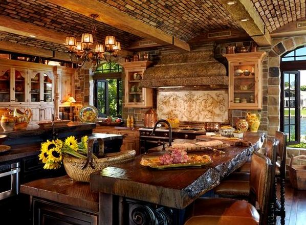 дизайн интерьера кухни рустикальный стиль