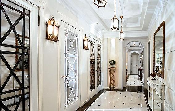 дизайн интерьера прихожей в доме освещение
