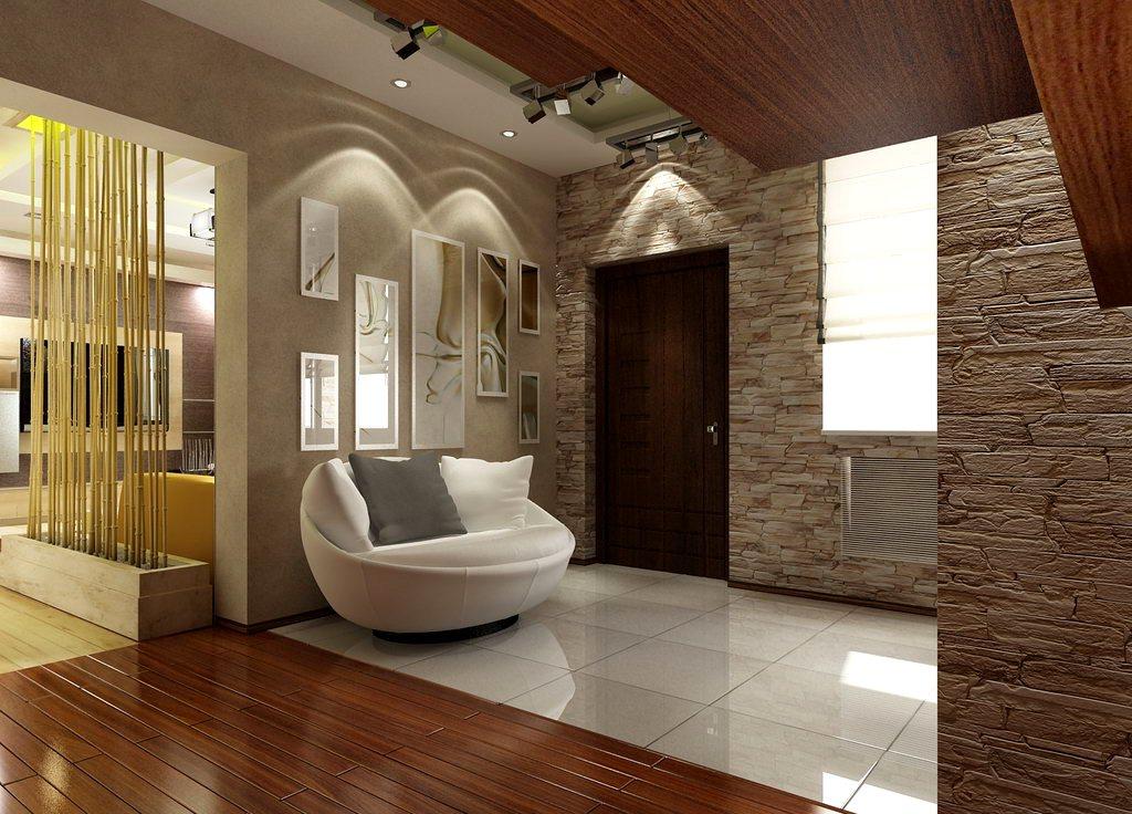 дизайн интерьера прихожей в доме стены