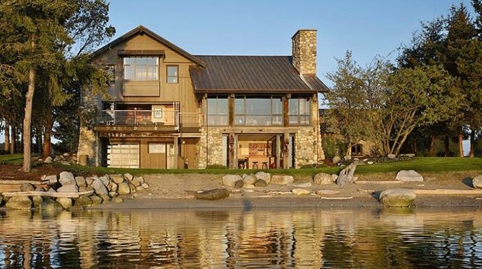дизайн фасада дома в стиле кантри