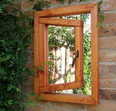 зеркало вместо окна