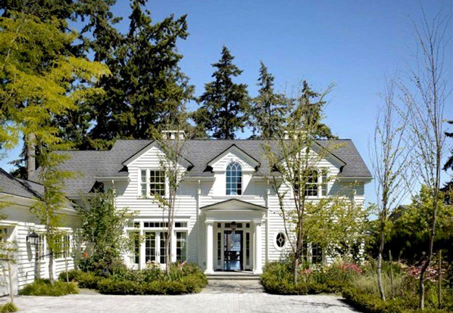 романтический стиль фасада дома