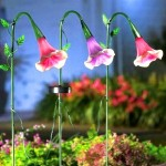 садовые фонари солнечные цветы