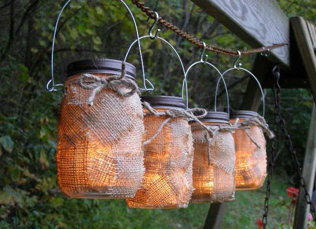 фонарики из банок