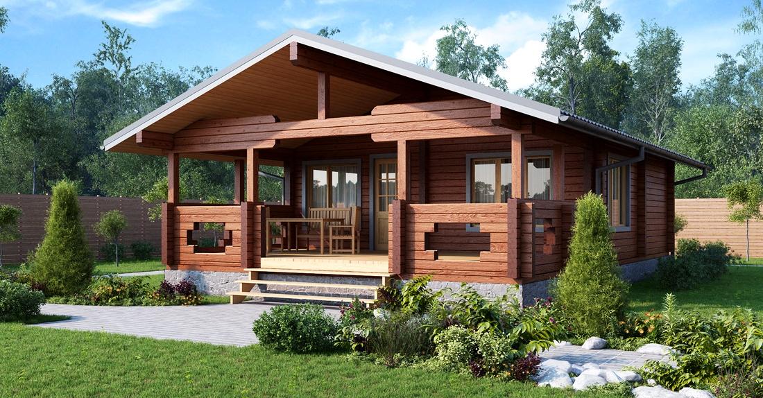 Деревянные дома в скандинавском стиле из бруса