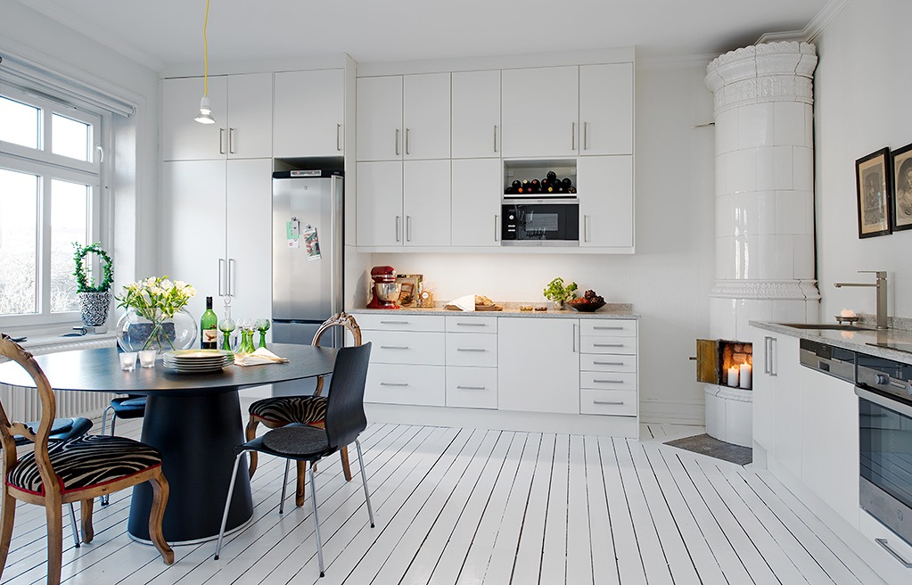 Деревянные дома в скандинавском стиле кухня