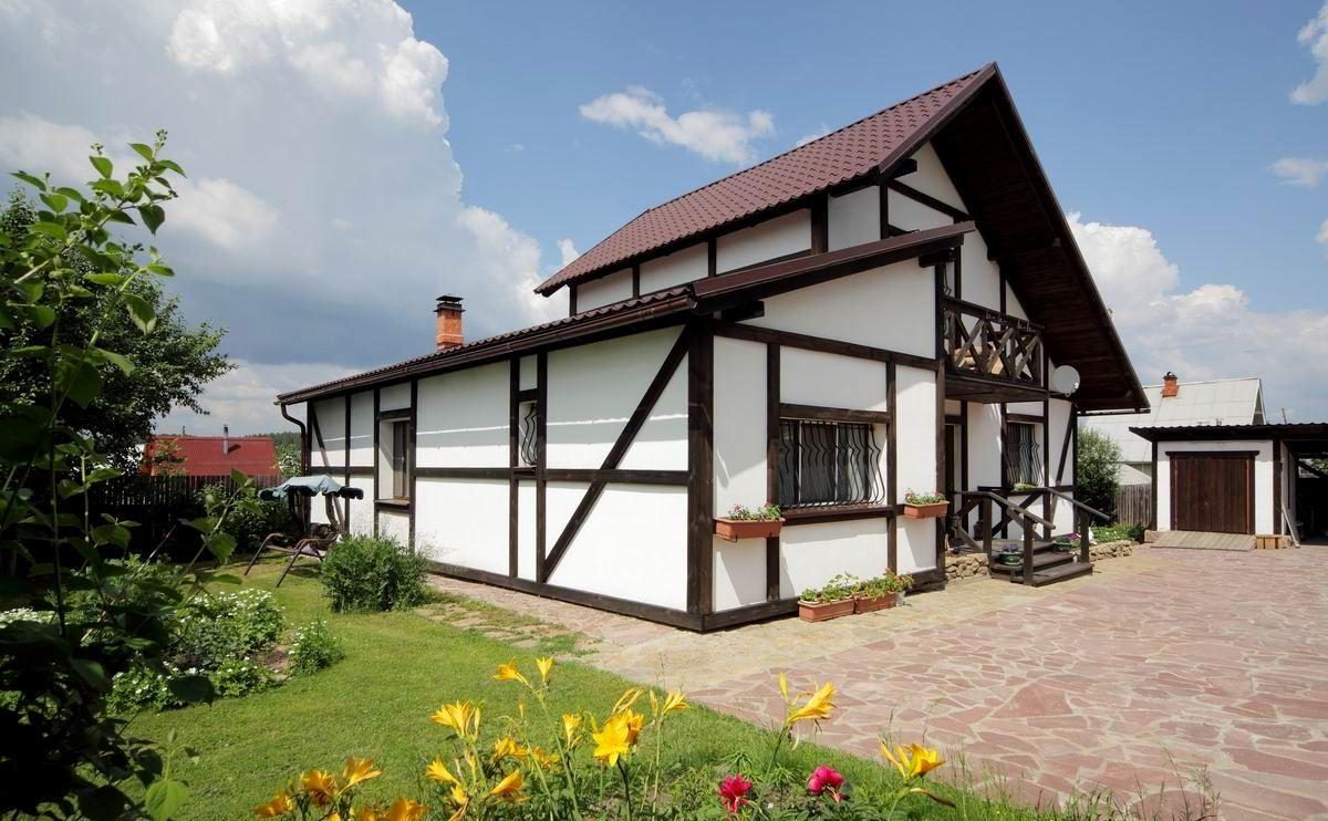 Фото фасадов дома с декоративной штукатуркой