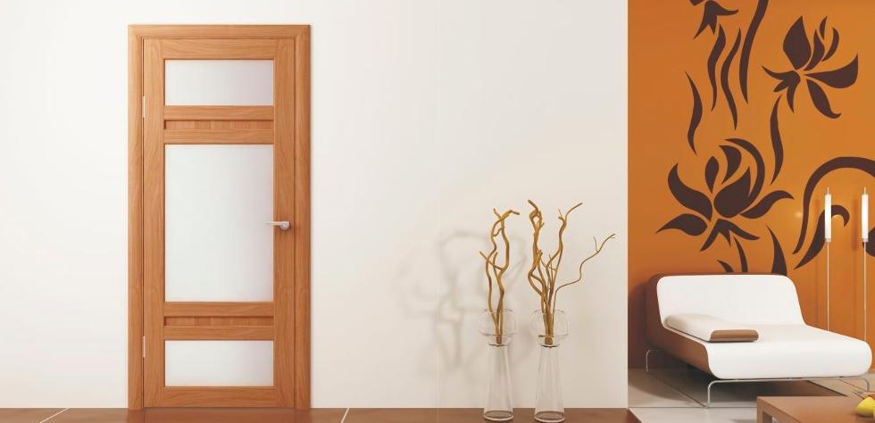 девевянные двери в интерьере1