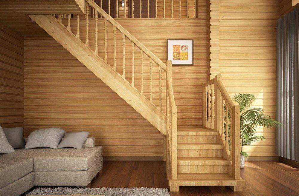 деревянная лестница в интерьере2