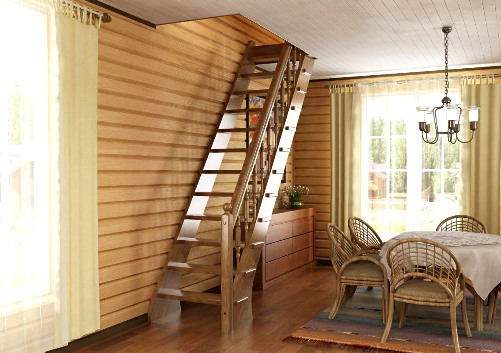 деревянная лестница в интерьере3