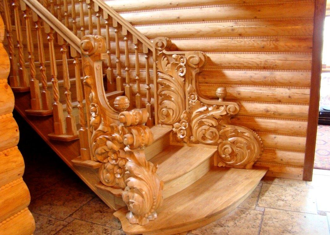 деревянная лестница в интерьере4