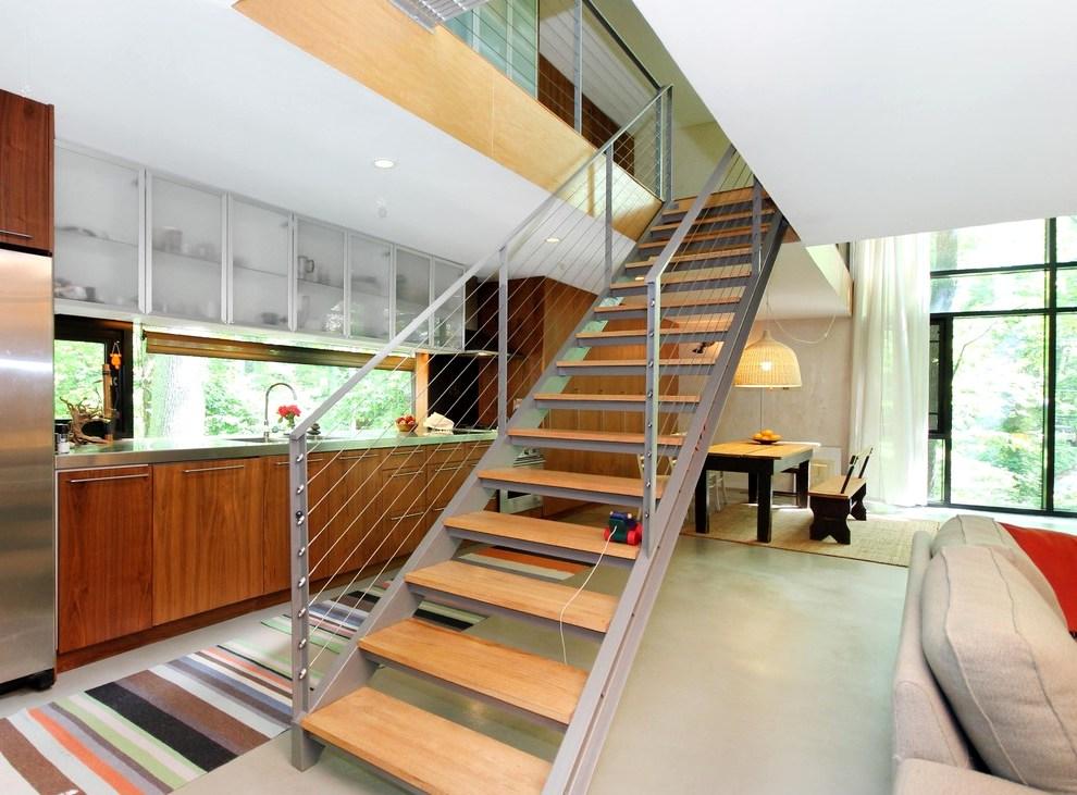 деревянная лестница в интерьере5