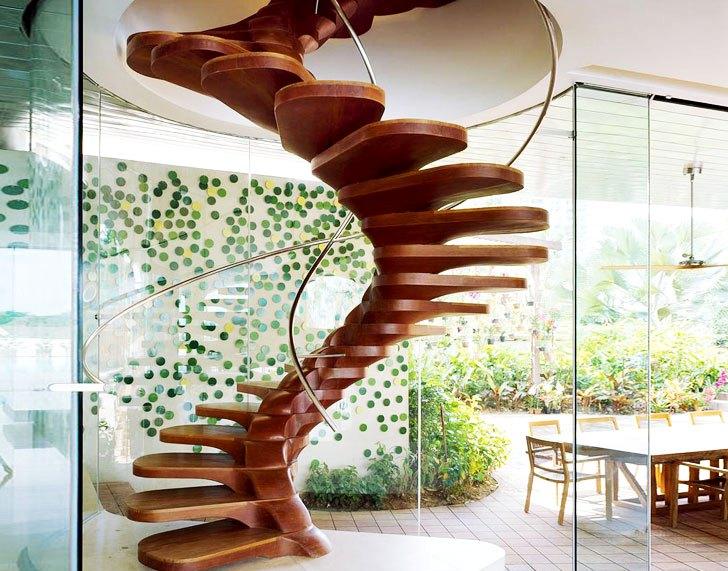 деревянная лестница 2