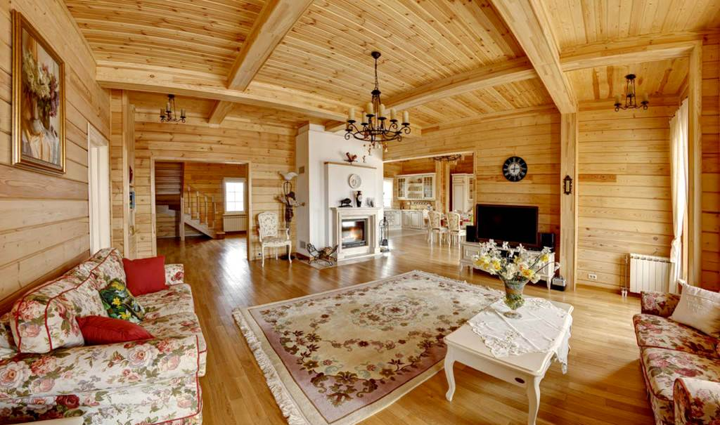 деревянный дом в русском стиле интерьер