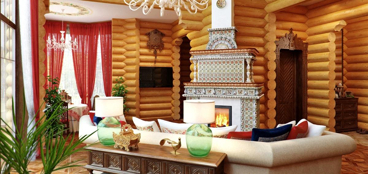 деревянный дом в русском стиле2