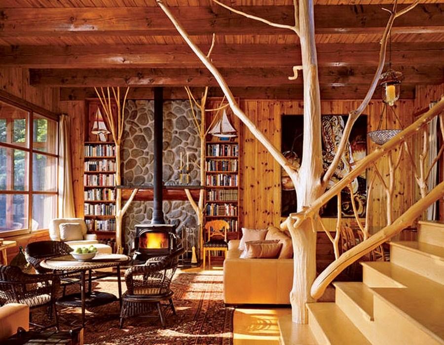 дизайн деревянного дома фотогалерея интерьера