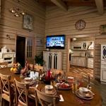 дизайн интерьера деревянного загородного дома