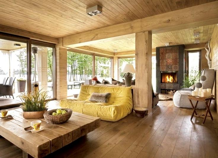 дизайн интерьера деревянного загородного дома1