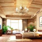 дизайн интерьера деревянного загородного дома2