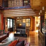 дизайн интерьера деревянного загородного дома4