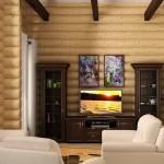 дизайн проект интерьера деревянного дома5