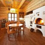 интерьер деревянного дома в русском стиле