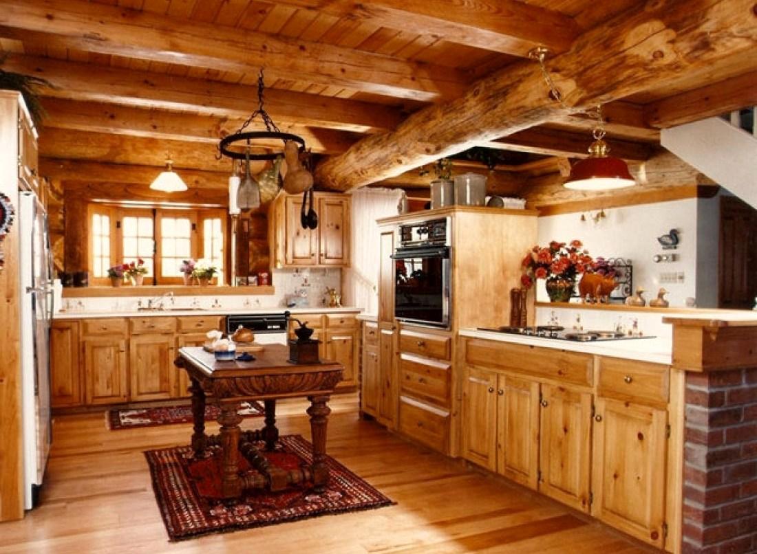 интерьер кухни в деревянном доме2