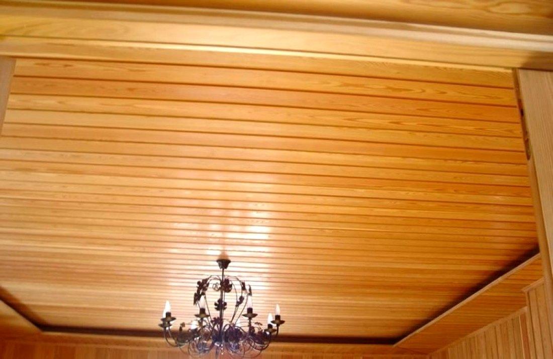 Окрашивание деревянных потолков  2