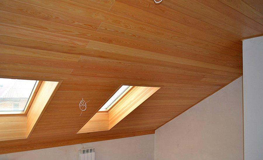 Окрашивание деревянных потолков  3