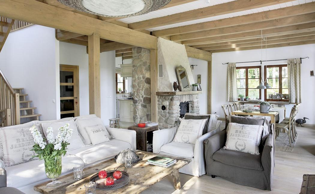 гостинная в деревянном доме